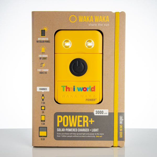 Theirworld 'WakaWaka' solar power bank and solar flashlight