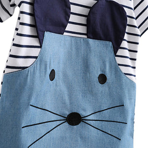 Stripes Mouse Shirt Dress - Mom and Bebe Ph