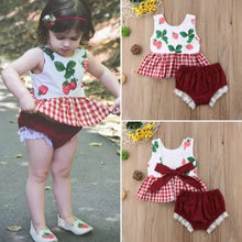 Load image into Gallery viewer, Strawberry Top & Laced Shorts - Mom and Bebe Ph