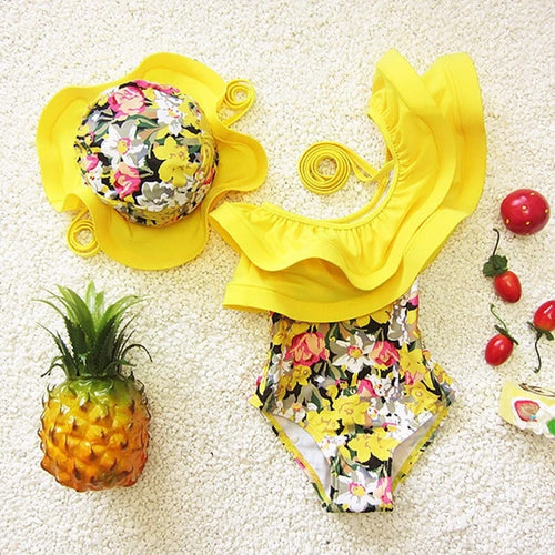 Floral Kids Swimsuit