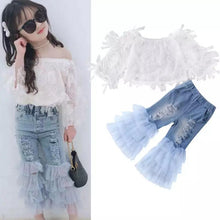 Load image into Gallery viewer, Lace Off Shoulder+ Jeans - Mom and Bebe Ph