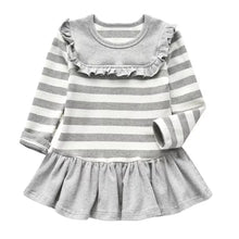 Load image into Gallery viewer, Kids Stripes Gray Dress - Mom and Bebe Ph