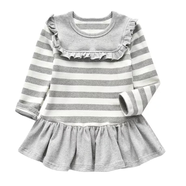 Kids Stripes Gray Dress
