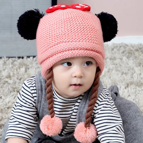 Knitted Hat w/ Braids - Mom and Bebe Ph