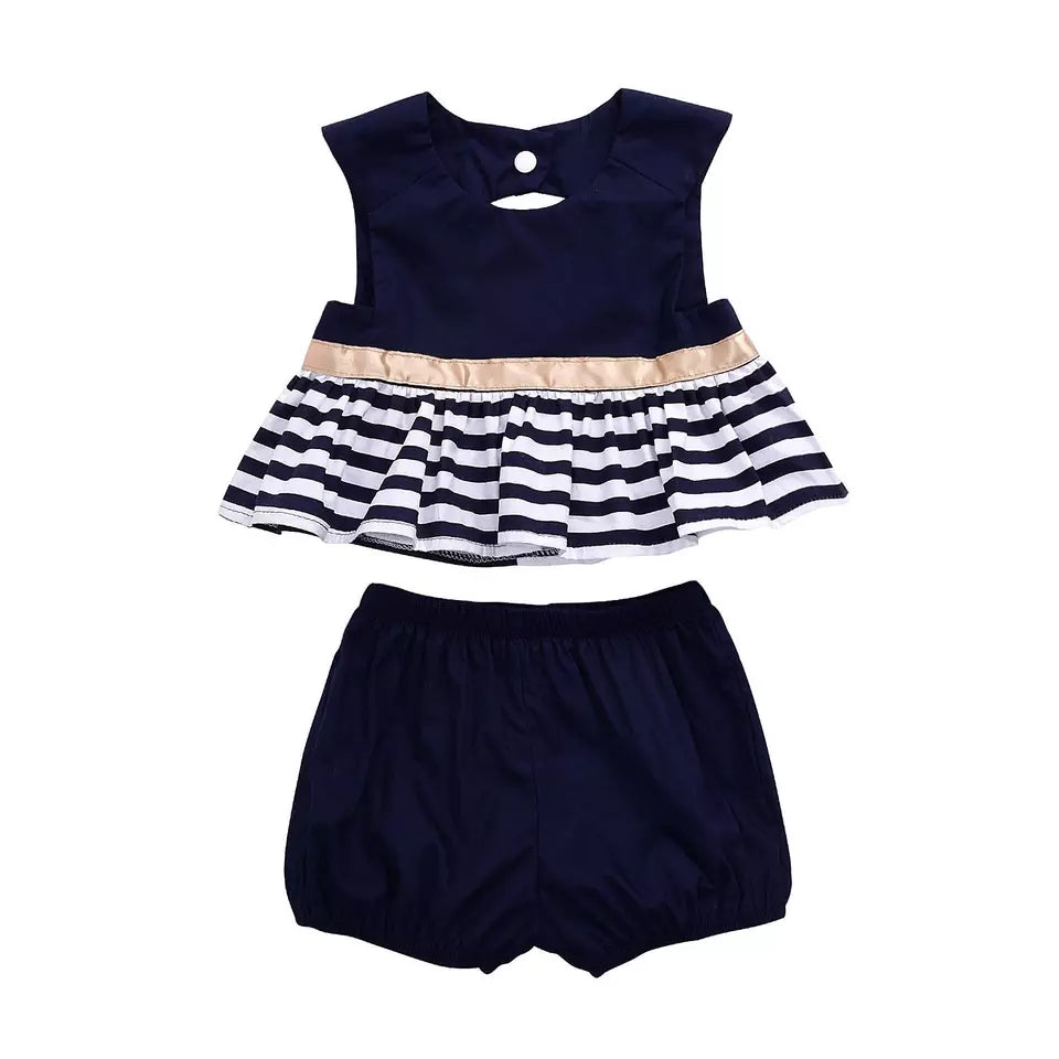 Stripe Short Dress Top & Shorts - Mom and Bebe Ph