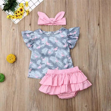 Load image into Gallery viewer, Flamingo Top Skirt Set - Mom and Bebe Ph