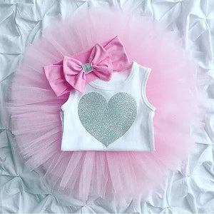 3pc set Pink Tutu Onesie Headband - Mom and Bebe Ph
