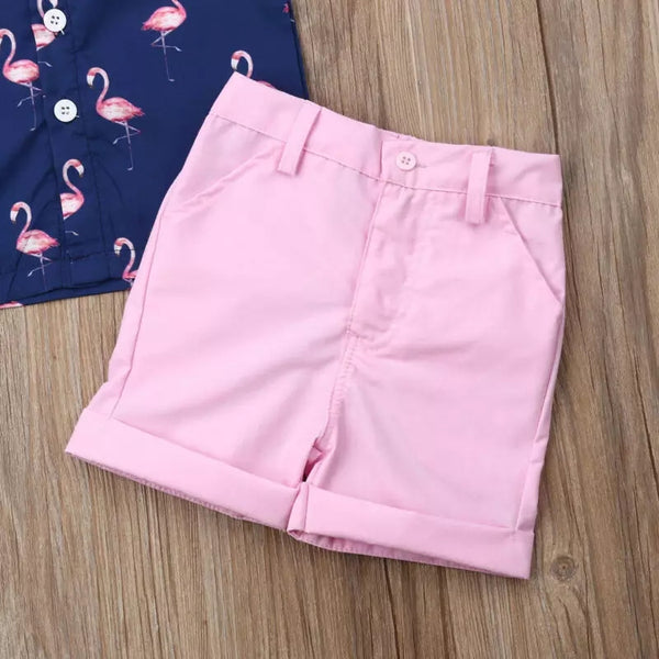 Flamingo Polo Shorts