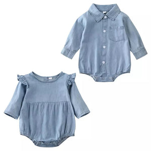 Denim Romper Boy/Girl