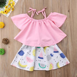 Pink Top & Fruit Skirt
