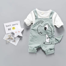 Load image into Gallery viewer, Dinosaur Jumpsuit + Shirt - Mom and Bebe Ph