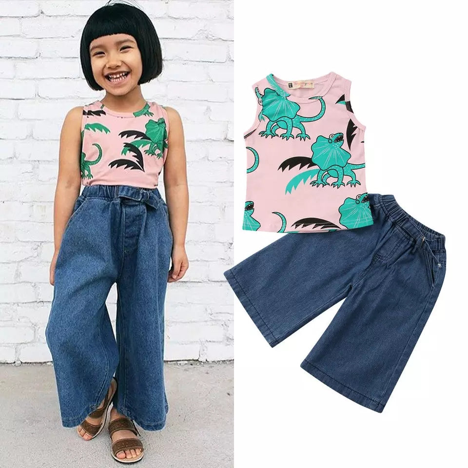 Dinosaur Top + Wide Trousers - Mom and Bebe Ph
