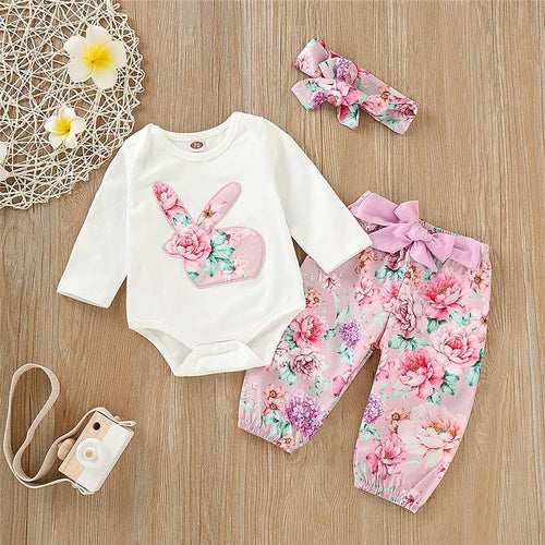 Bunny Floral Outfit Set