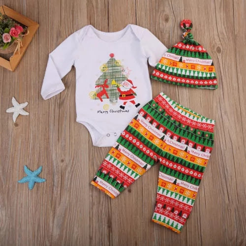 Xmas 3pc Outfit Boy Girl 12-24M