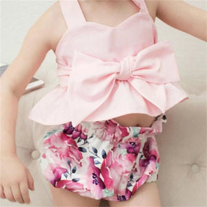 Pink Top & Floral Shorts - Mom and Bebe Ph