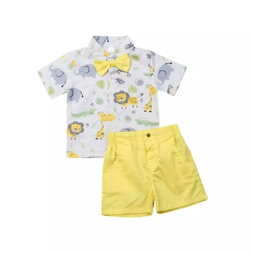 Cute Animals Shirt + Shorts - Mom and Bebe Ph