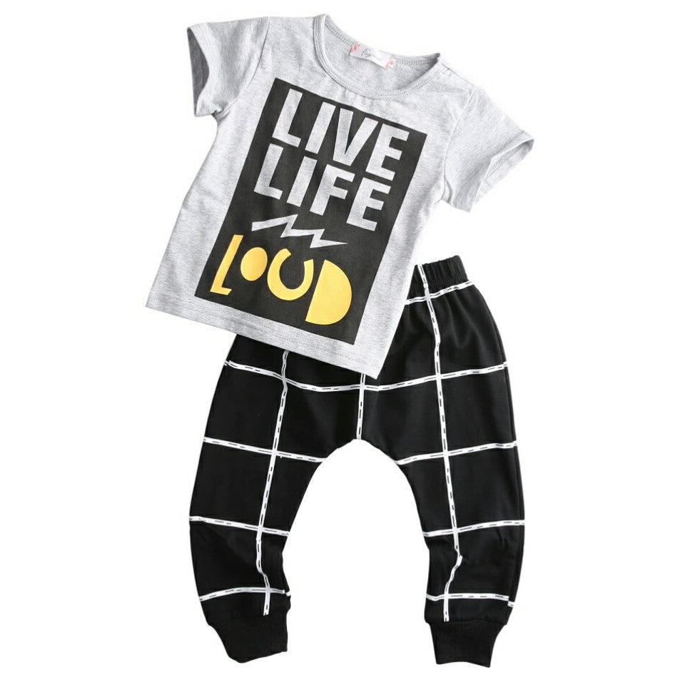 Live Life Loud Top and Pants - Mom and Bebe Ph