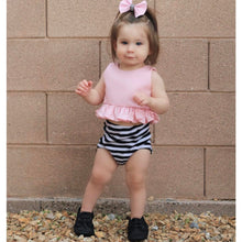Load image into Gallery viewer, Headband Pink Top Stripe Pants - Mom and Bebe Ph