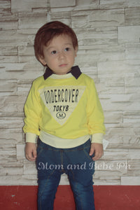 Oopsmile L-sleeve Shirt + Jeans - Mom and Bebe Ph