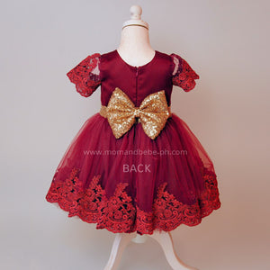 Princess Party Dress (Red) - Mom and Bebe Ph