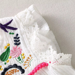 White Embroidered Dress - Mom and Bebe Ph