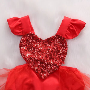 Heart Sequins Red Jumpsuit - Mom and Bebe Ph