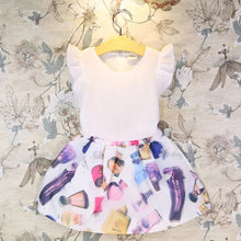 Load image into Gallery viewer, White Blouse + Printed Skirt - Mom and Bebe Ph