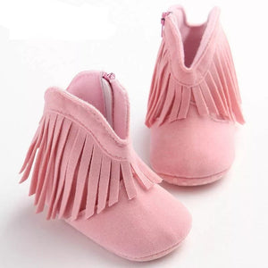 Moccasin Boots (Pink) - Mom and Bebe Ph