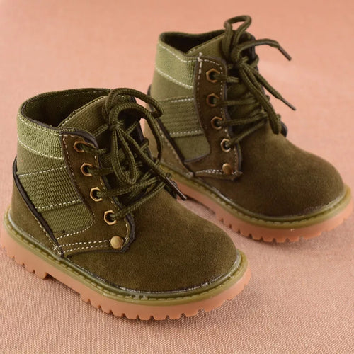 Army Green Kids Boots 21-30