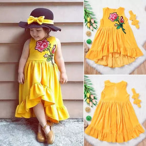 Yellow Dress Flower Patch + Headband - Mom and Bebe Ph