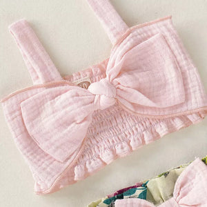 Pink & Floral 2pc Suit - Mom and Bebe Ph