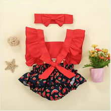Load image into Gallery viewer, Watermelon Romper + Headband