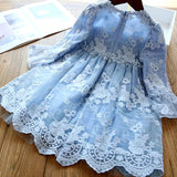 Blue Laced Dress - Mom and Bebe Ph