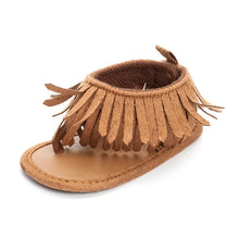 Load image into Gallery viewer, Tassel Brown Sandals - Mom and Bebe Ph