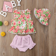 Load image into Gallery viewer, Floral Top Hat & Pink Shorts - Mom and Bebe Ph