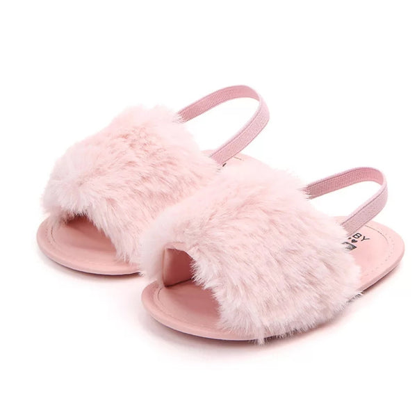 Furry Baby Sandals
