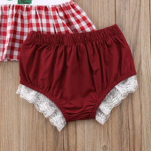 Strawberry Top & Laced Shorts - Mom and Bebe Ph