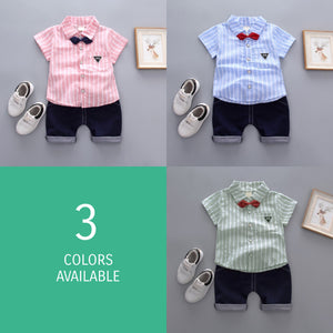 Little Man Striped Top & Shorts - Mom and Bebe Ph