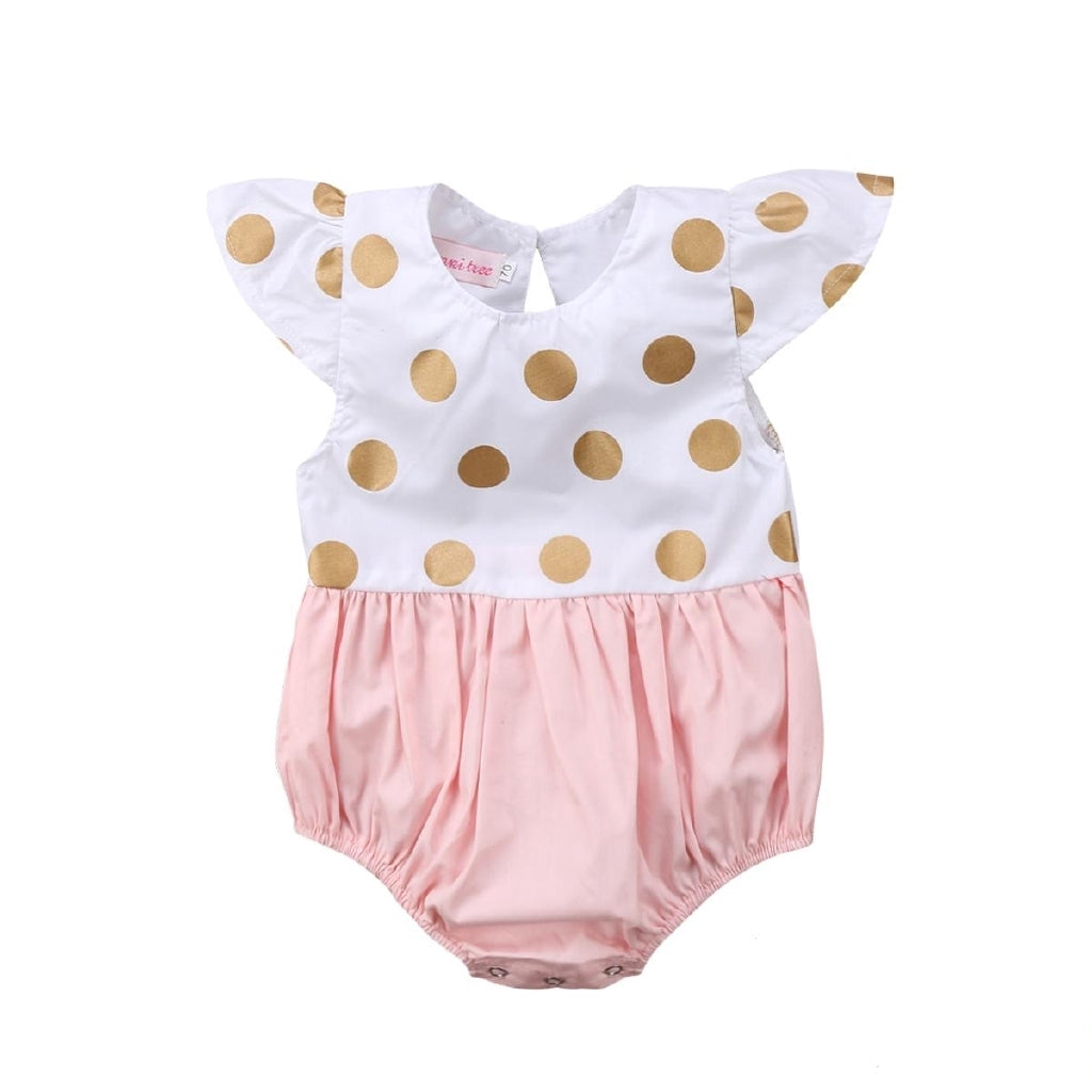 Luna Gold Dots Romper - Mom and Bebe Ph