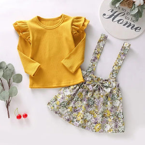 Yellow Top Strap Skirt - Mom and Bebe Ph