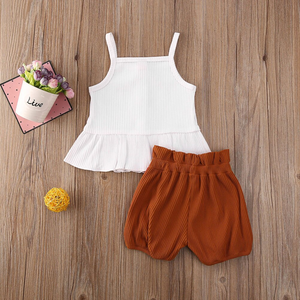 White Top & Brown Shorts