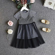 Load image into Gallery viewer, Stripes Black Dress - Mom and Bebe Ph