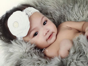 Flower Lace Pearl Headband - Mom and Bebe Ph