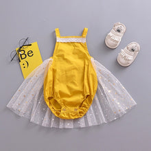 Load image into Gallery viewer, Mustard Yellow Romper Tulle Skirt - Mom and Bebe Ph