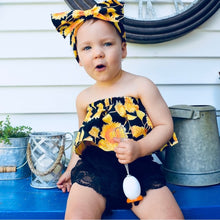 Load image into Gallery viewer, Sunflower Tube Top Shorts Headband - Mom and Bebe Ph
