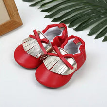 Red Gold Baby Shoes