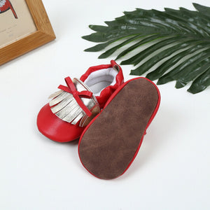 Red Gold Baby Shoes - Mom and Bebe Ph
