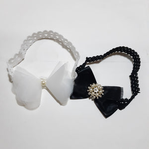 Set 2pcs Black & White Girls Headbands - Mom and Bebe Ph