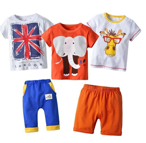 5pcs Boys Clothing Set