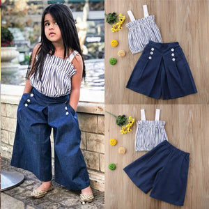 Vertical Top Denim Pants - Mom and Bebe Ph